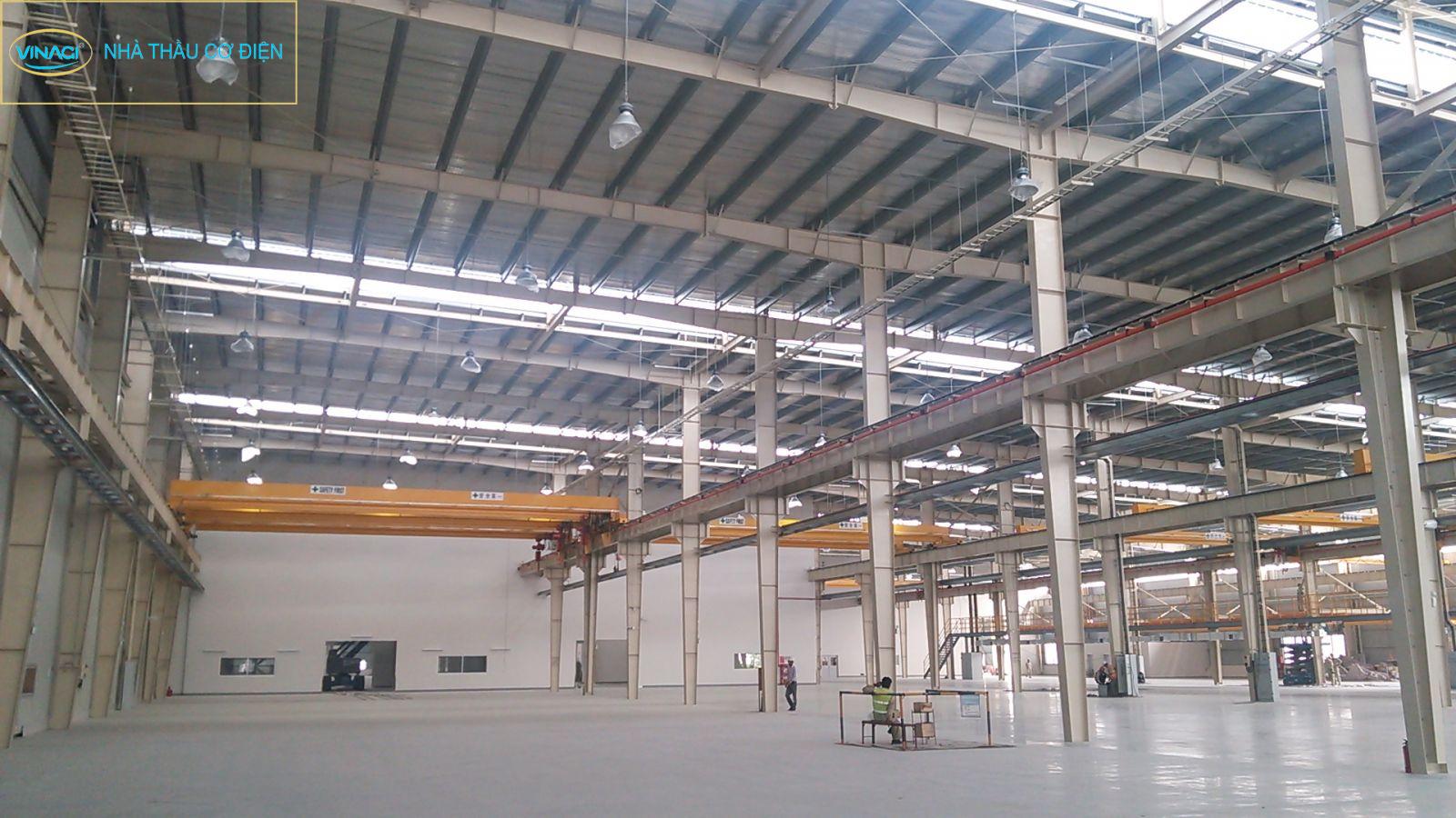 Lắp đặt hệ thống điện nhà xưởng long an