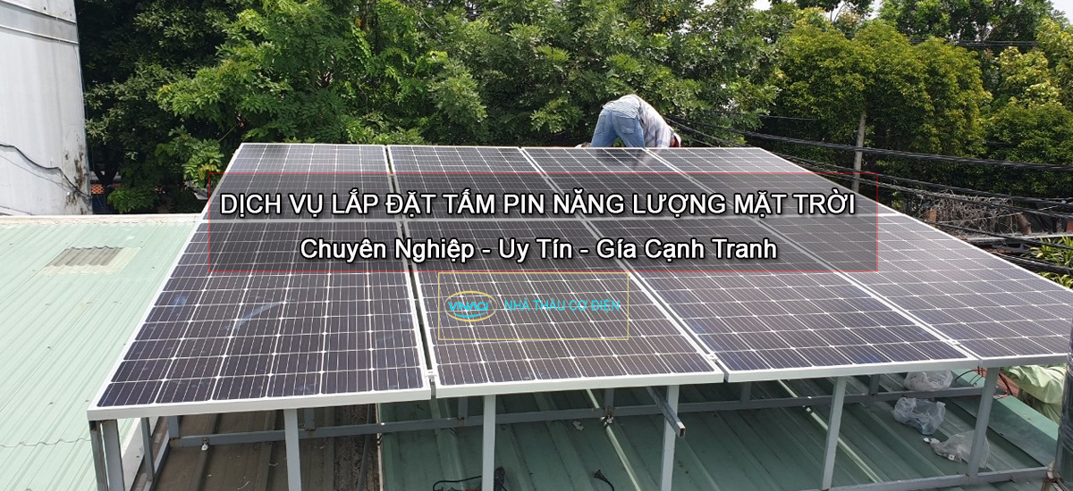 lắp tấm pin năng lượng mặt trời bình dương