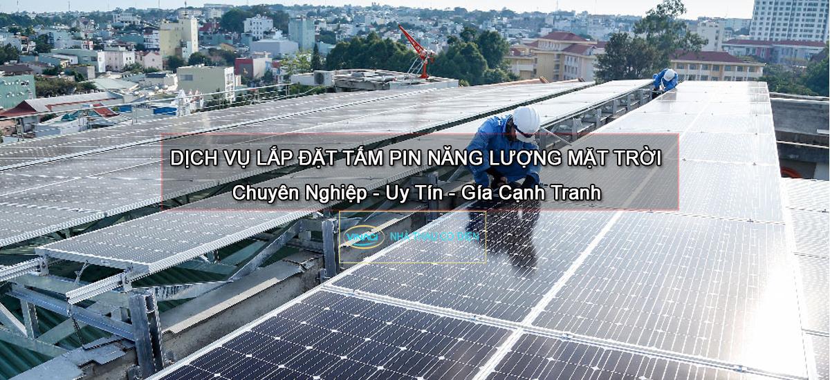 lắp tấm pin mặt trời ap mái