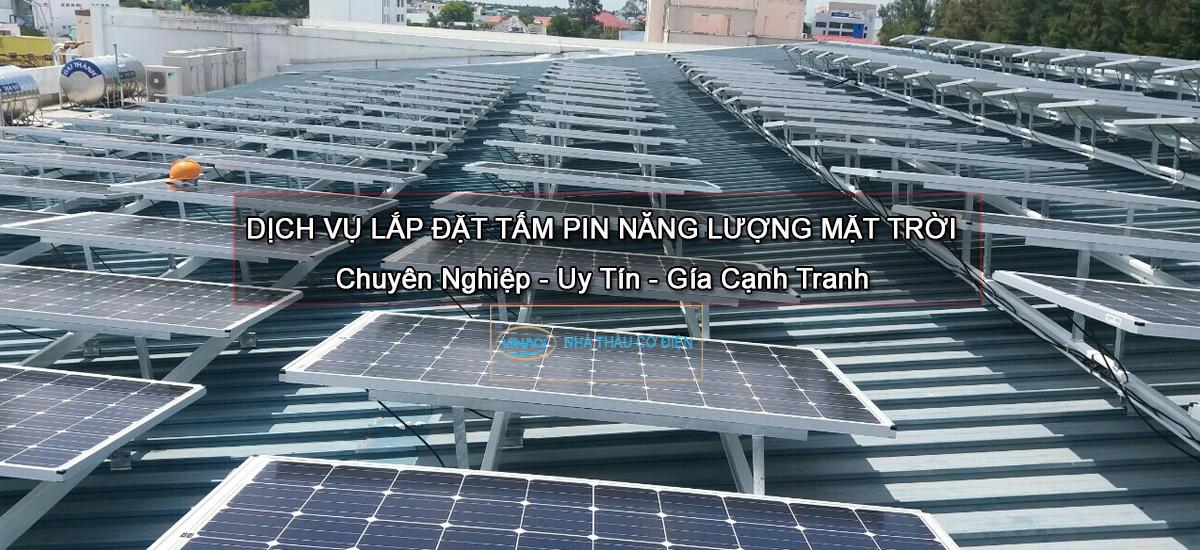 lắp tấm pin mặt trời áp mái